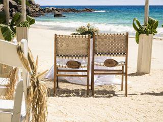 Wedding setting at Carana Beach