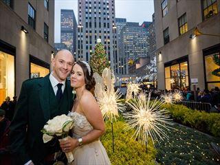 Bride & Groom, Rockefeller Christmas Tree