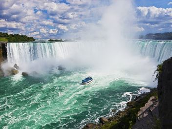 Take a helicopter ride over the Niagara Falls