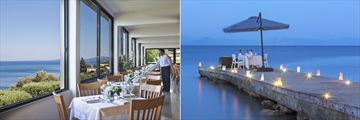 Main Restaurant and Eros dinner at Aeolos Beach Resort