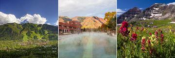 Aspen, Glenwood Hot Springs, Snowmass