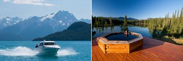 Lake Cruises and Hot Tub at the Bunk House, The Chilko Experience Wilderness Resort