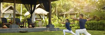Melia Bali Yoga in the gardens