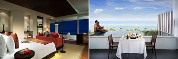 Ocean Front Honeymoon Pool Suite, Bedroom and Balcony