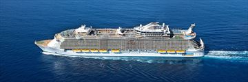 Royal Caribbean Oasis of the Seas Aerial