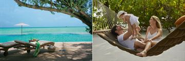 Infinity pool and family time at Taj Exotica Resort & Spa
