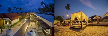 Aava Resort & Spa, Resort and Beach at Twilight