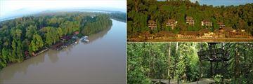 Abai Jungle Lodge & Gaya Island Resort landscapes