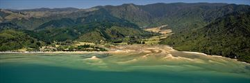 Aerial View of Abel Tasman Lodge, Marahau