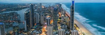 Aerial view of the Gold Coast