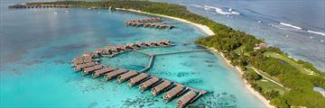 Aerial view of Shangri-La Villingili Resort