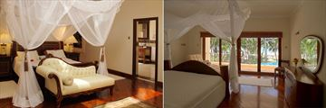 Deluxe Ocean View Suite and Deluxe Ocean View Room at Almanara Luxury Resort