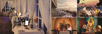Almond Beach Resort La Samarrita, Reef Sunset, Horizons Restaurant and Enids Restaurant