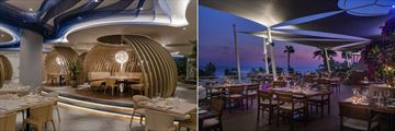 Thalassa Restaurant and The Grill Room terrace at Amathus Beach Hotel
