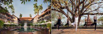 Main pool and yoga at Anantara Angkor Resort