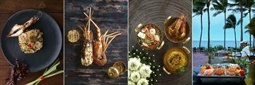 Anantara Hua Hin Resort, Tom Yam Risotto, Grilled Lobster, Rim Nam Thai Dish and Sai Thong Barbeque