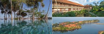 The pool, the lagoon side rooms and an aerial view of Anantara Kalutara