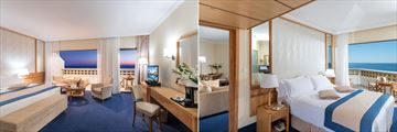 Junior Suite and Executive One Bedroom Suite at Constantinou Bros Athena Royal Beach Hotel