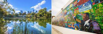 Atlanta Skyline & Ebenezer Mural