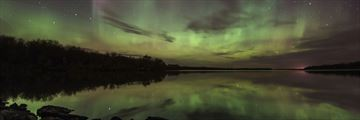 Northern Lights over Netley Creek, Manitoba