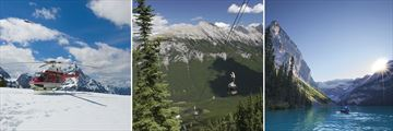 Banff Helicopter Tour, Sulphur Gondolas & Lake Louise