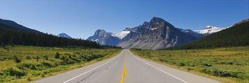 Road leading to Banff National Park, Alberta