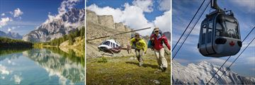 Banff National Park, Icefields Helicopter & Sulphur Mountain Gondola