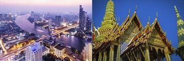 Skyline and Golden Temple, Bangkok