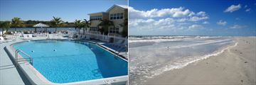 The Pool and Beach at Barefoot Beach Resort