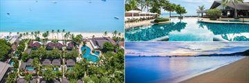 The Beach and Pools at Peace Resort Samui