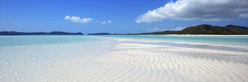 Remote beach on the Whitsunday Islands