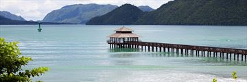 Scenic jetty in Langkawi
