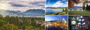 Landscapes and sights in Vancouver, British Columbia