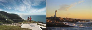 Beautiful Walking Trail & Lighthouse Scenery in Nova Scotia