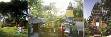 Belmond Jimbaran Puri, Wellness and Meditation in the Gardens, On-Site Temple Gardens and Balinese Temple