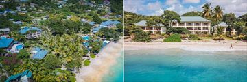 Bequia Beach Hotel, Aerial View of Hotel and Beachfront Suites Exterior