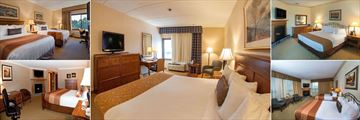 Best Western Plus Waterbury Stowe, Standard Double Bed Guest Room, Standard King Bed Guest Room, Suite King with Fireplace, Two Queen Suite with Fireplace and Queen Deluxe Room with Fireplace,