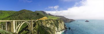 Views of Bixby Bridge, California