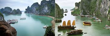 Boats on the Halong Bay