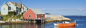 Boats along Peggy's Cove, Nova Scotia