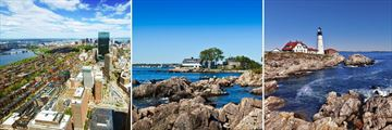 Boston, Kennebunkport & Portland scenery