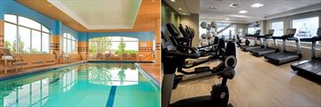 Indoor Pool and Fitness Room at Boston Marriott Quincy