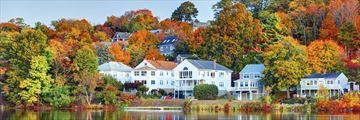 Boston Suburb in the Autumn