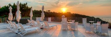 The sun terrace at Boutique Hotel Helios