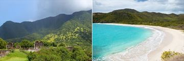 Brimstone Hill Fortress National Park, Nevis & Rendezvous Bay, Antigua
