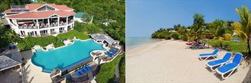 Calabash Cove, Windsong Restaurant, Main Pool, Swim-Up Bar and Beach