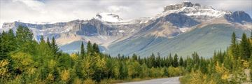 Beautiful scenery on a Rocky Mountain Highway in Canada