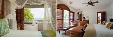 Villa Suite with Jacuzzi (left) and Villa Suite with Pool (right) at Cap Maison