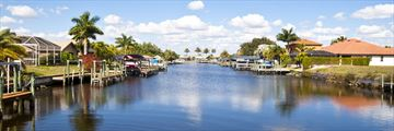 Wealthy canals in Cape Coral