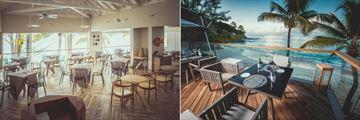 Carana Beach Hotel, Lorizon Restaurant Interior and Deck